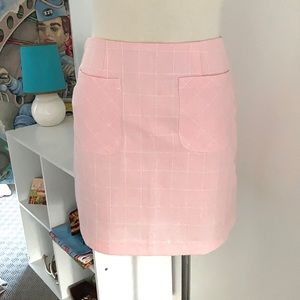 Cute 60's style Mini with textured pattern Size 8